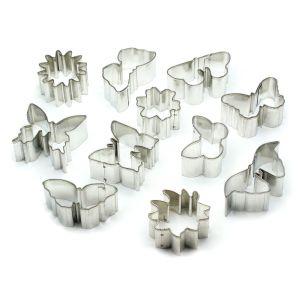 Flowers & Butterflies Metal Clay Cutter Set