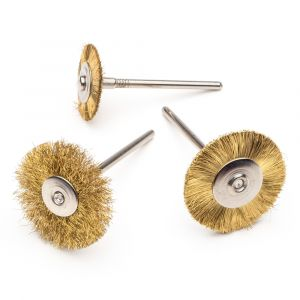 Mounted Miniature Brass Wheels
