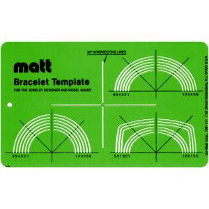 Matt Bracelet Flexible Acrylic Stencil Template