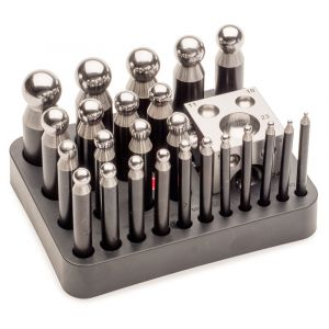 2.3 to 25 mm Economy Dapping Punch & Die Set