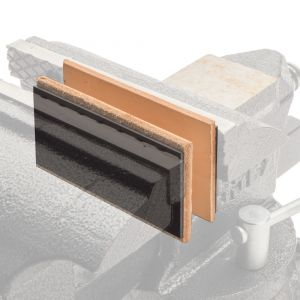 Leather Faced Magnetic Vise Jaw Pads