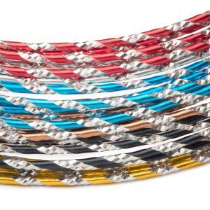 Diamond Cut Aluminum Wire, 12 gauge