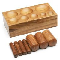 """1 1/4"""" to 3 1/2"""" Wood Dapping Punch & Die Set"""